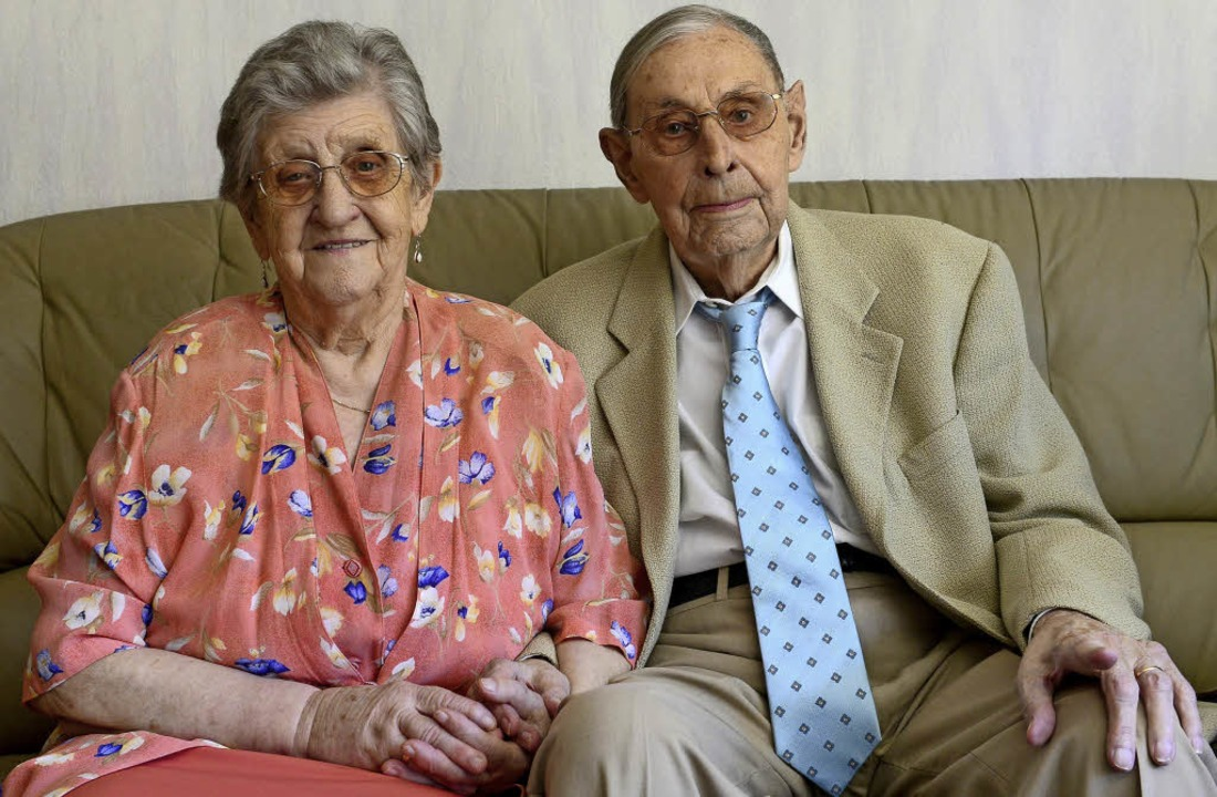Das Ehepaar Clausen feiert heute den  70. Hochzeitstag.  | Foto: ingo schneider