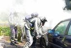 Fotos: Feuerwehr löscht brennendes Auto in Bonndorf