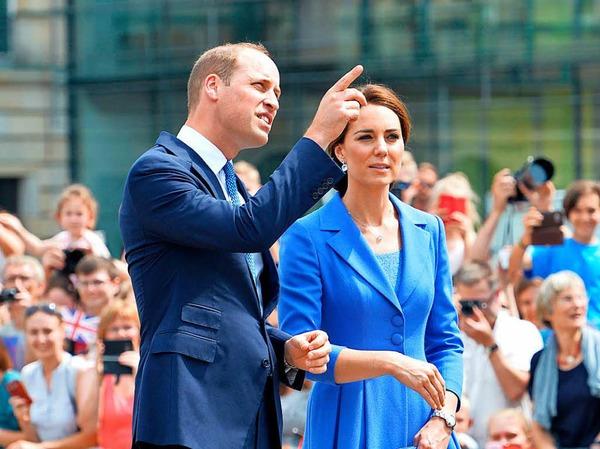 Der erste Deutschlandbesuch von Prinz William mit Frau und Kindern.