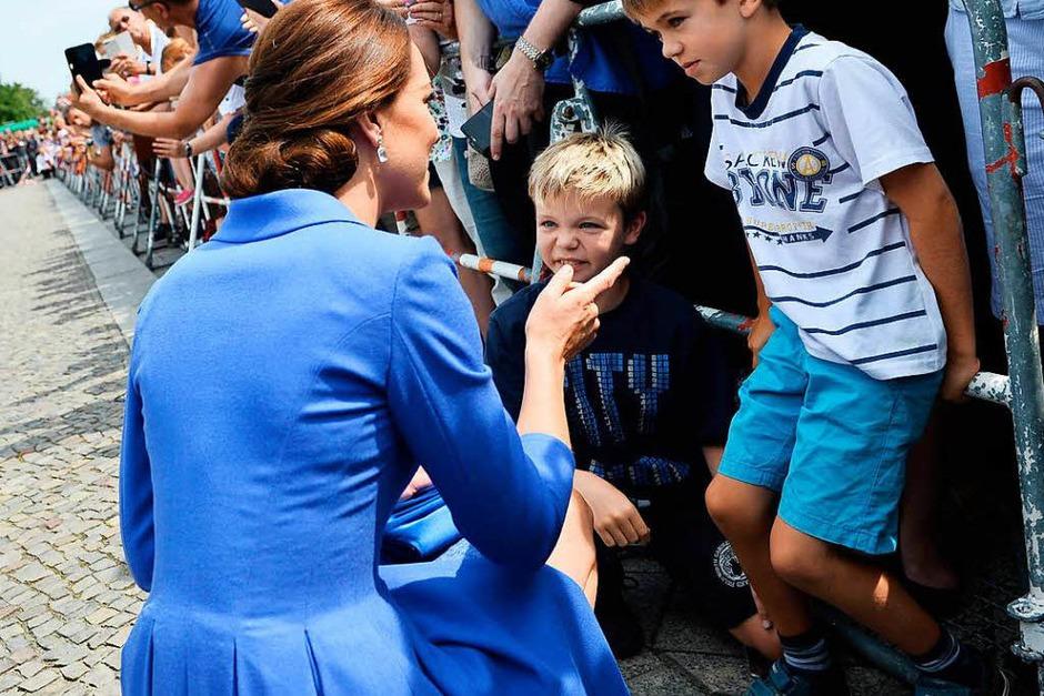 Der erste Deutschlandbesuch von Prinz William mit Frau und Kindern. (Foto: AFP)