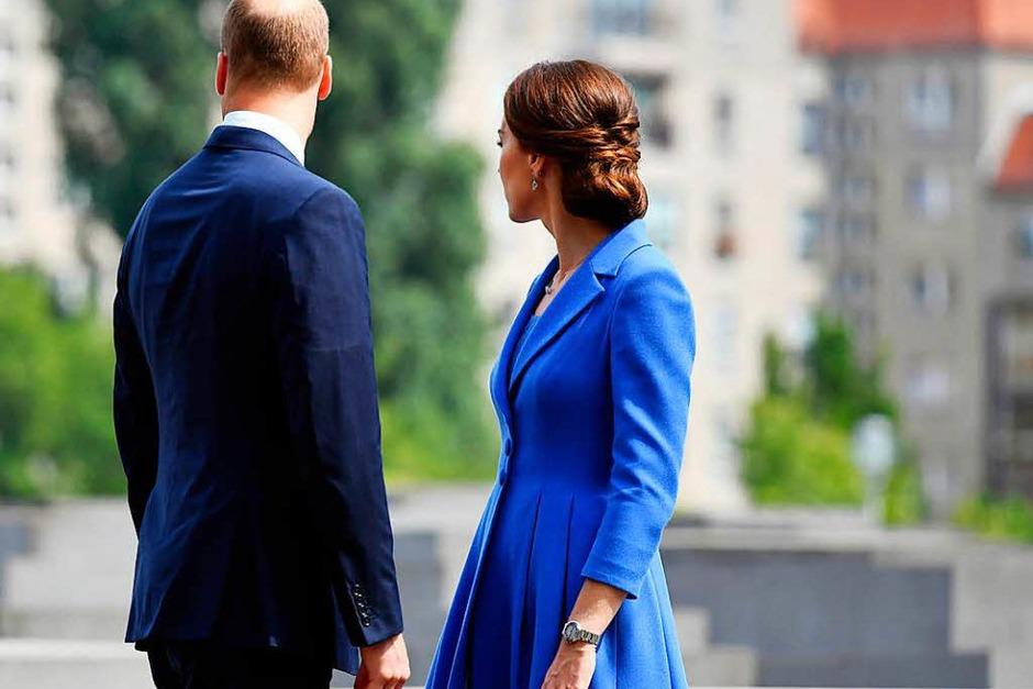 Der erste Deutschlandbesuch von Prinz William mit Frau und Kindern. (Foto: dpa)