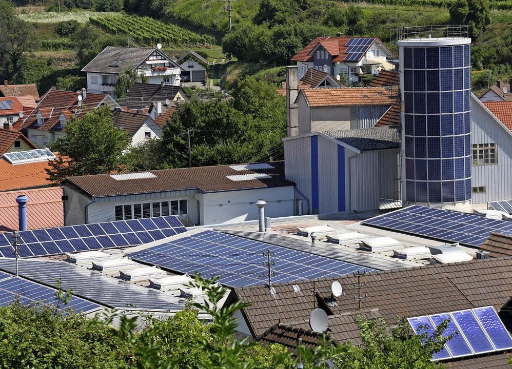 Gewerbe mitten in Kiechlinsbergen:  Di...laut Gemeinderatsbeschluss erarbeitet.  | Foto: Christiane Franz