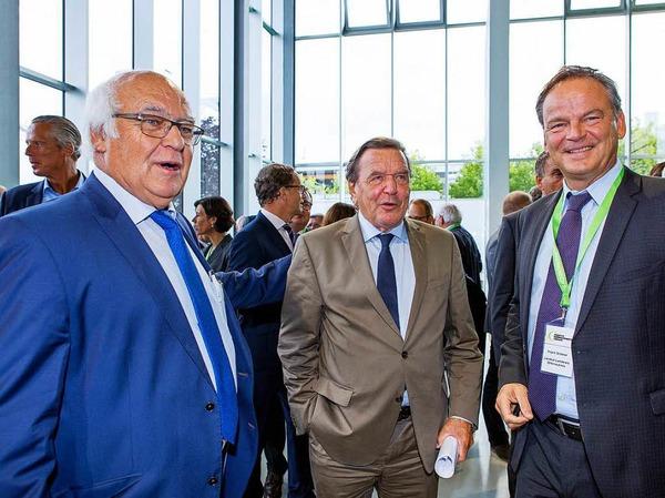 Martin Herrenknecht, Gerhard Schröder und Landrat Frank Scherer