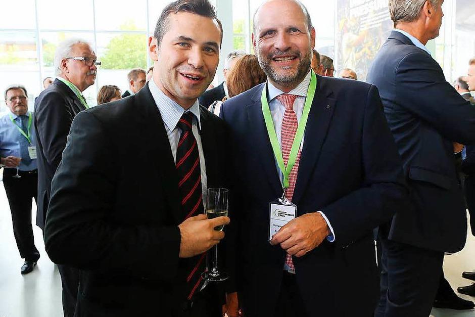 Martin-Devid Herrenknecht und Bürgermeister Wolfgang Brucker (Foto: Christoph Breithaupt)