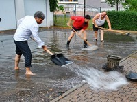 Unwetter in Bötzingen mit Überschwemmungen