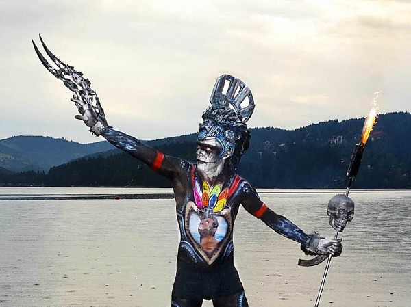 Bodypainting-Festival am Titisee.