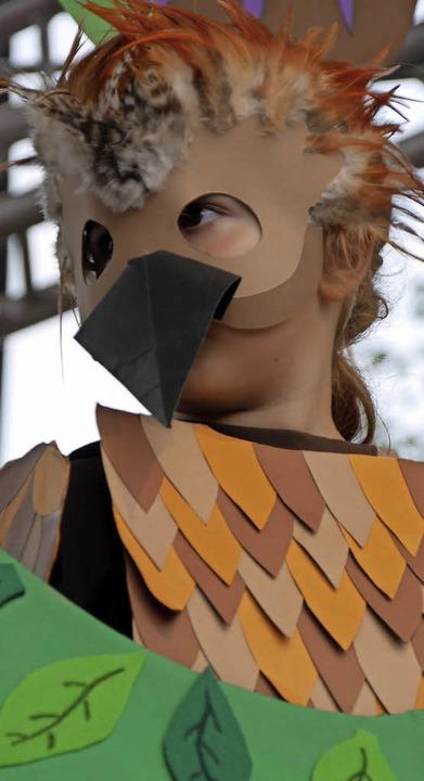 Die kleinen Schauspieler des Kindergar... Jäger sorgte für beste Unterhaltung.     Foto: Marion Rank