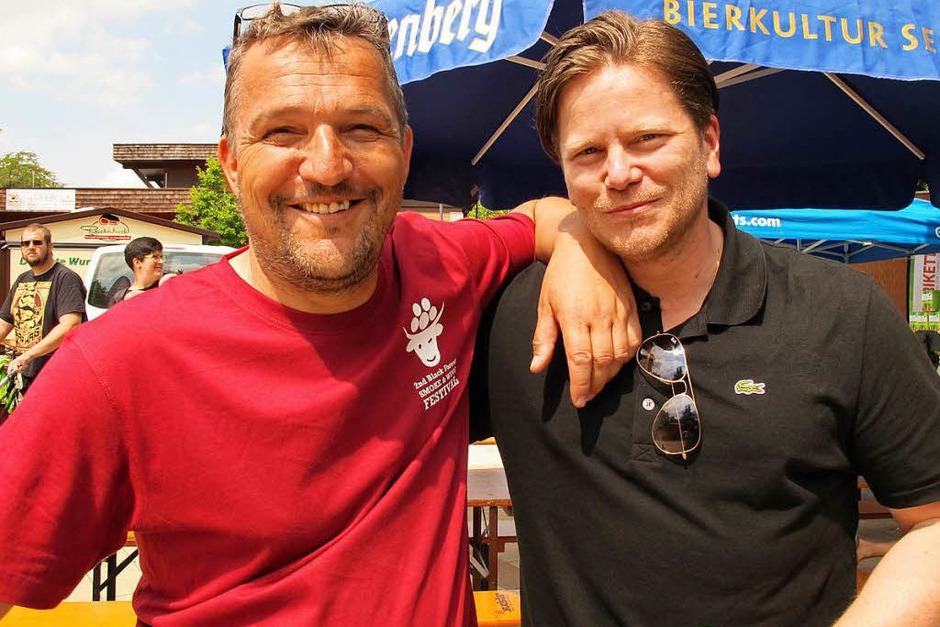 Der Veranstalter Michael Köpf (links). (Foto: Jutta Schütz)