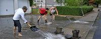 Gewitterfront sorgt für reichlich Arbeit