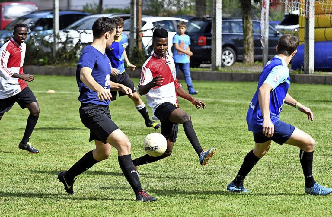 Vollen Einsatz gaben auch junge Spieler im Turnier.   | Foto: Wolfgang Künstle