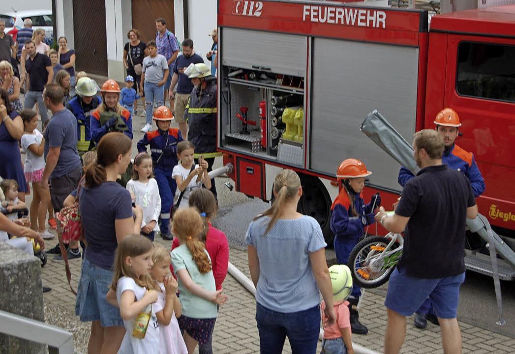 Großes Interesse an der Jugendfeuerwehr Haagen   | Foto: Paul Schleer