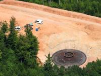 Windpark wird in Beton gegossen