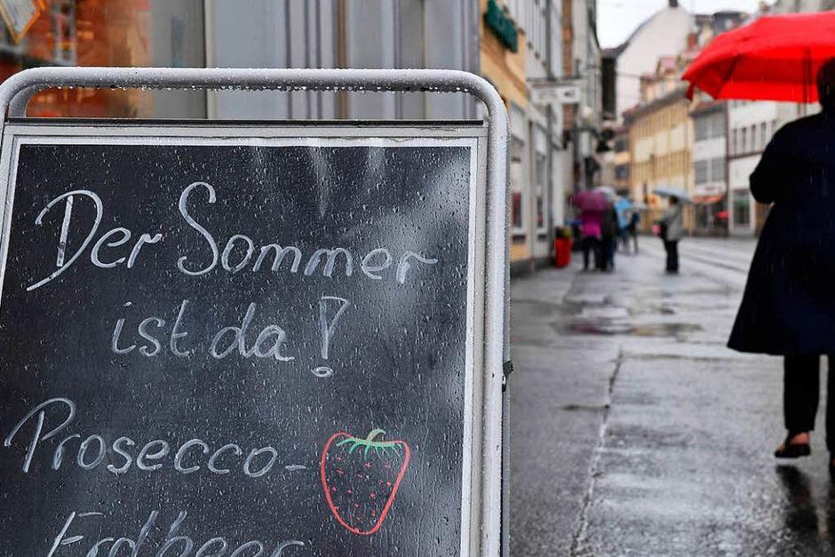 Der Mittwoch bringt in Niedersachsen und Thüringen weiteren Regen, wie der Deutsche Wetterdienst am Morgen mitteilte. (Foto: dpa)