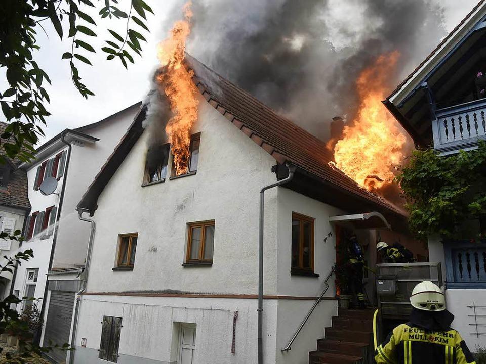 Das Gebäude in der Krafftgasse brannte aus.   | Foto: Archivbild: Volker Münch