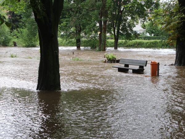 Während des Dauerregens ist in Wernigerode in Sachsen-Anhalt eine 69-Jährige in der Nähe eines Flusslaufes verschwunden. Die Frau wohne direkt an der Holtemme, sagte ein Polizeisprecher am Mittwoch. Es könne nicht ausgeschlossen werden, dass die Frau  in den stark angestiegenen Fluss gefallen ist. Die 69-Jährige wurde bis zum Mittag noch nicht gefunden.