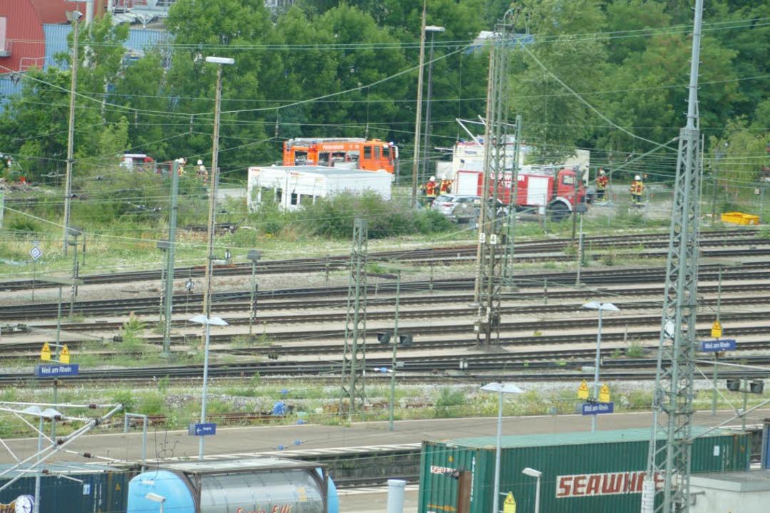 Einsatz am Güterbahnhof in Weil am Rhein  | Foto: Victoria Langelott