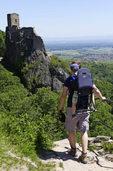 Wanderung von Ribeauvillé zur St. Ulrichsburg und Ruine Girsberg - mit Kinderkraxen