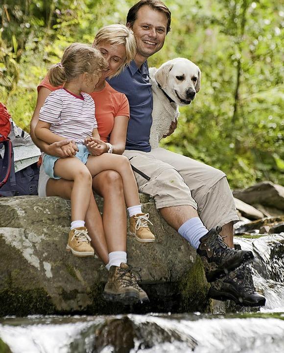 Mit Hund macht alles mehr Spaß – auch  Wandern und Rasten.   | Foto: Gorilla (fotolia.com)