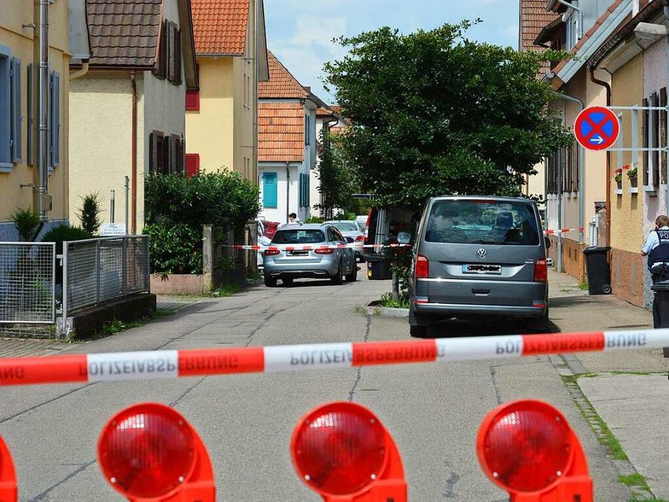Der Tatort: Die Hindenburgstraße in Teningen.  | Foto: Benedikt Sommer