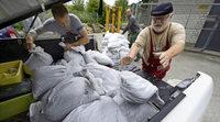 150 Sandsäcke - zur Vorsorge gegen vollgelaufene Keller