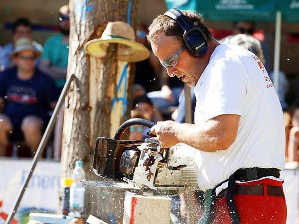 Bei den Internationalen Schwarzwälder Holzfällermeisterschaften und dem deutschen Eurojack-Wettkampf flogen die Späne.<?fett?> <?_fett?>