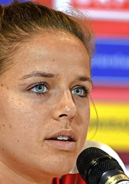 In Österreich jetzt ein Star: Laura Fe...r vom Ortenauer Erstligisten SC Sand    | Foto: AFP