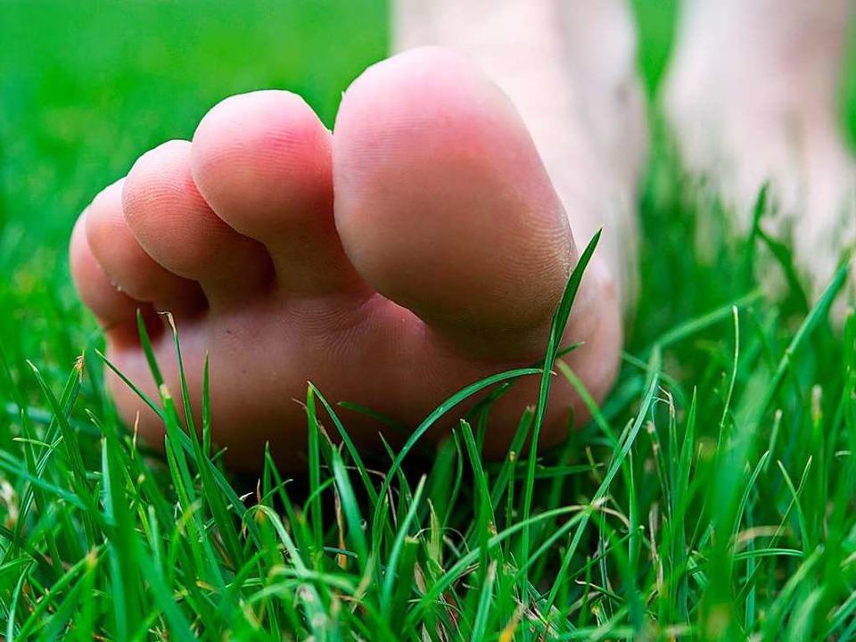 Den Boden unter den Füßen spüren.     Foto: Nentwig