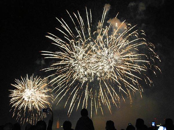 Beeindruckend: das große Feuerwerk kurz vor Mitternacht