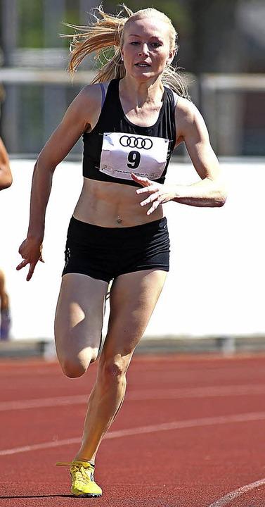 Titelgewinn über die Stadionrunde:  Sophia Sommer   | Foto: Ralf Görlitz