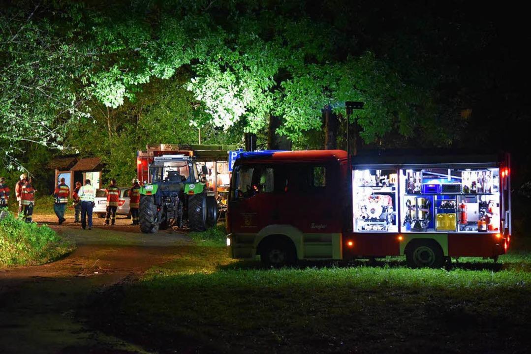 Großeinsatz bei Rickenbach: In einem Z...unge von einem Baum erschlagen worden.  | Foto: Martin Eckert