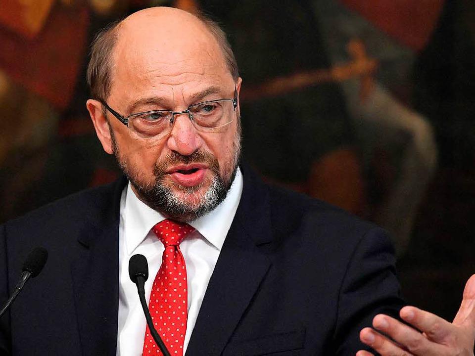 Martin Schulz in dieser Woche bei eine...der SPD-Kanzlerkandidat nach Freiburg.  | Foto: AFP