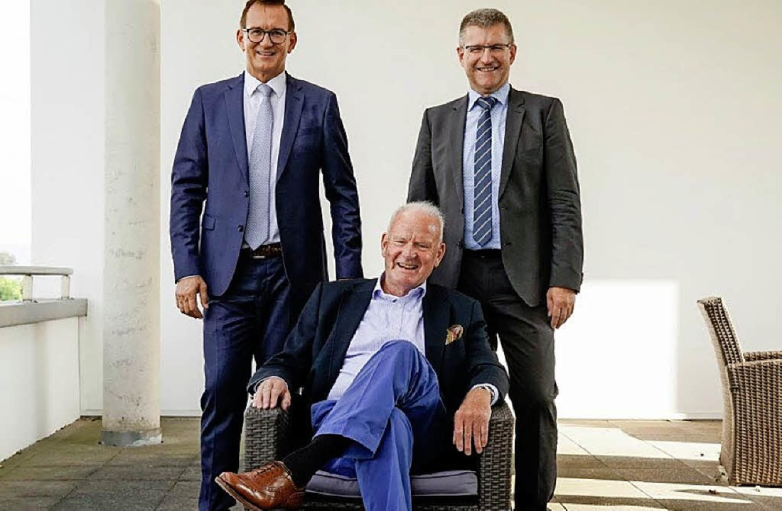 Präsident Duschan Gert (links) und Rai...and, zusammen mit Jo Schraeder (vorne)    Foto: Patrick von Au