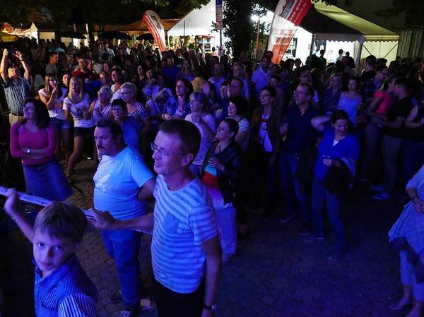 Die Rebländer sorgten für Partystimmung an der Hauptbühne.