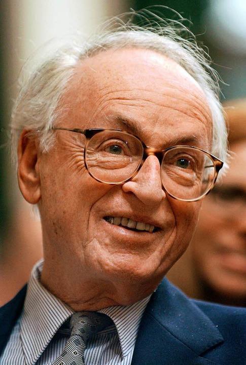 Walter Levin 2003 bei der Verleihung des Frankfurter Musikpreises.   | Foto: dpa