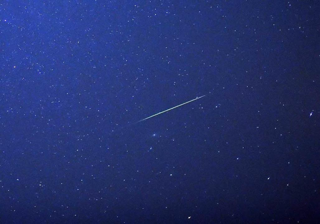 Allerdings kann es sein, dass der rech... der Sternschnuppen überstrahlen wird.  | Foto: dpa