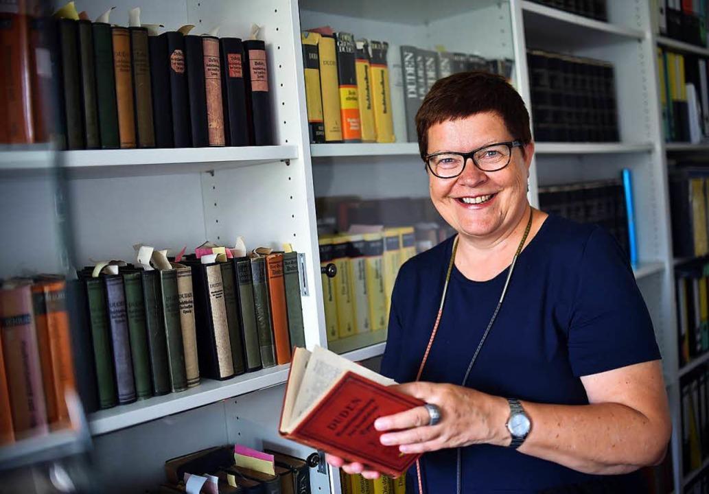 Die Leiterin der Dudenredaktion, Kathrin Kunkel-Razum  | Foto: dpa