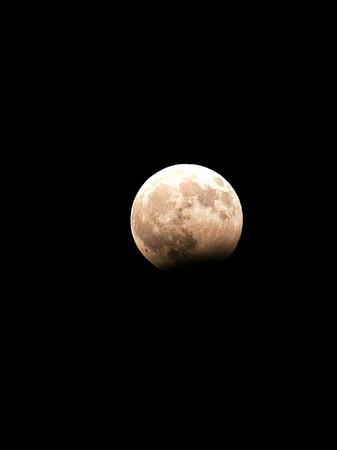 Blick auf den Mond von Hebron (Westjordanland) aus