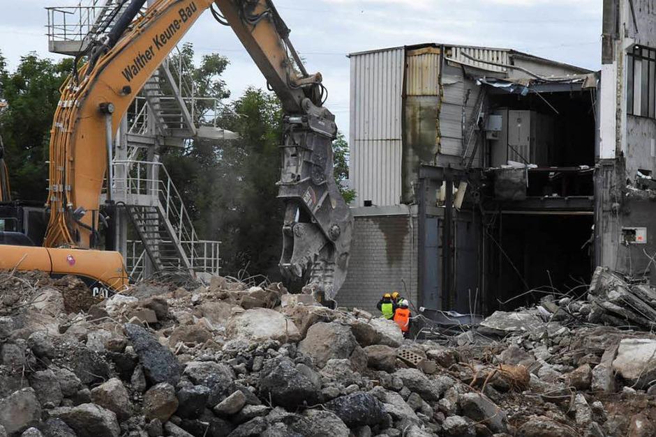 Die Gebäude der Gould verschwinden Stück für Stück. (Foto: Jonas Hirt)