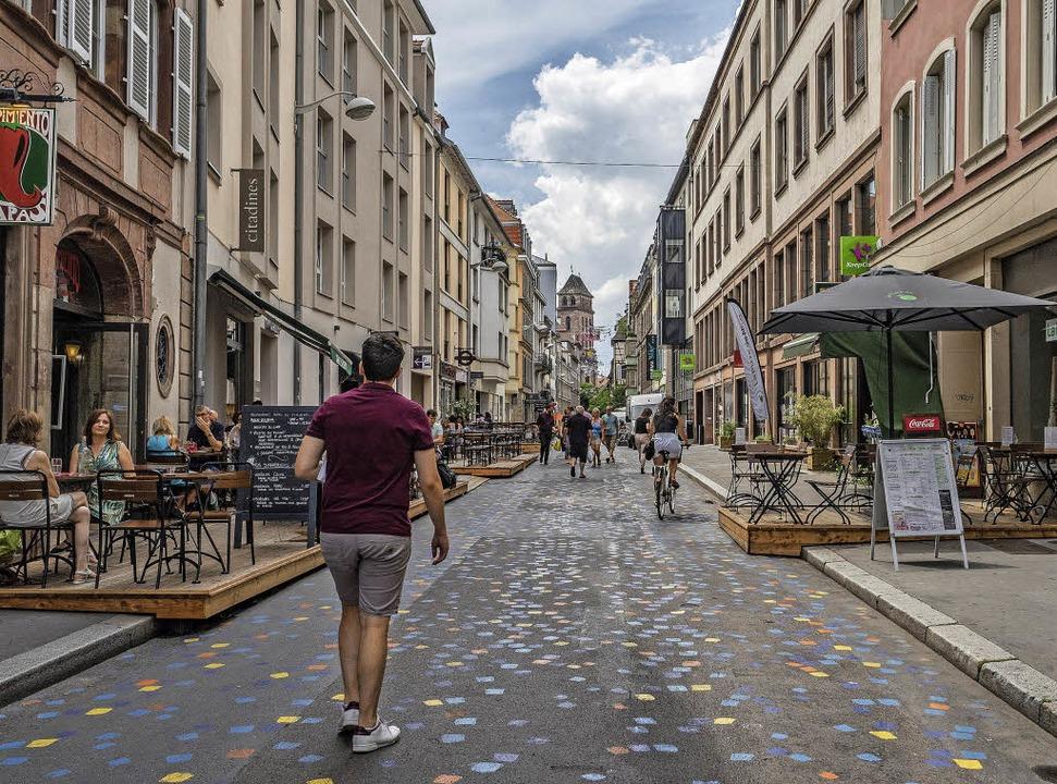 Keine Hupkonzerte mehr, dafür viel Atm... Rue du Jeu-des-Enfants hat gewonnen.   | Foto: TELI
