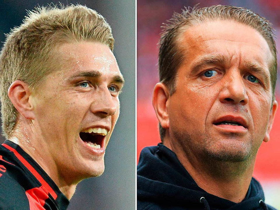 Nils (links) und Andreas Petersen tele...er. Meistens geht es dabei um Fußball.  | Foto: dpa