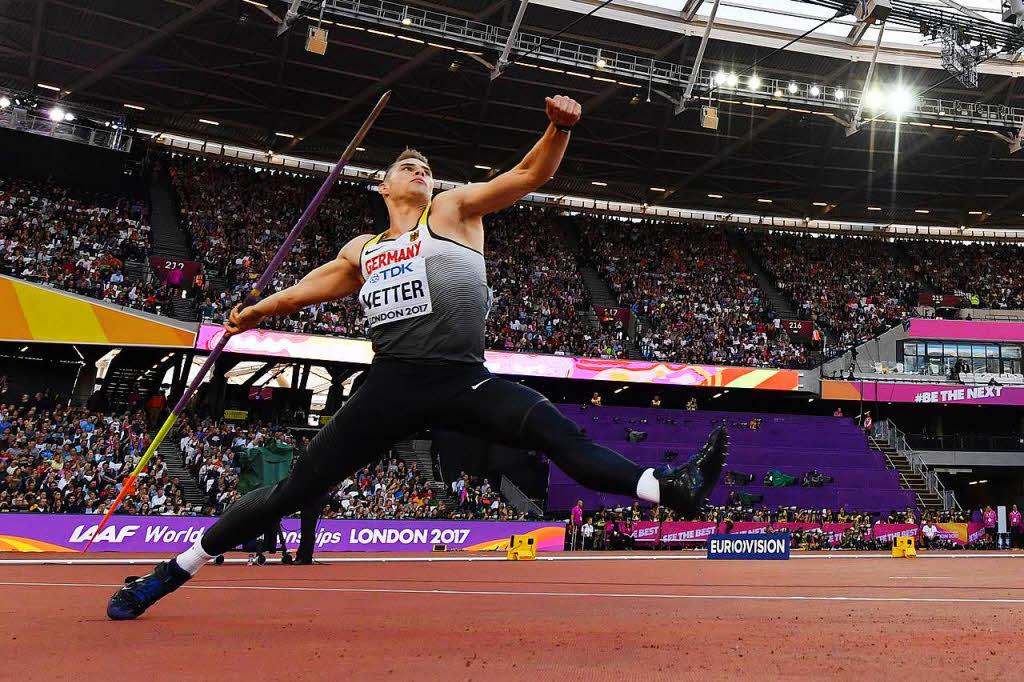 Speerwurf-Gold für Vetter - Röhler verpasst Medaille