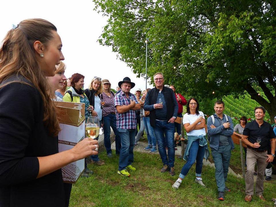 Hungerbergfest Köndringen: Lena Grodel...reisrätsels zur Weinwanderung bekannt.  | Foto: Aribert Rüssel