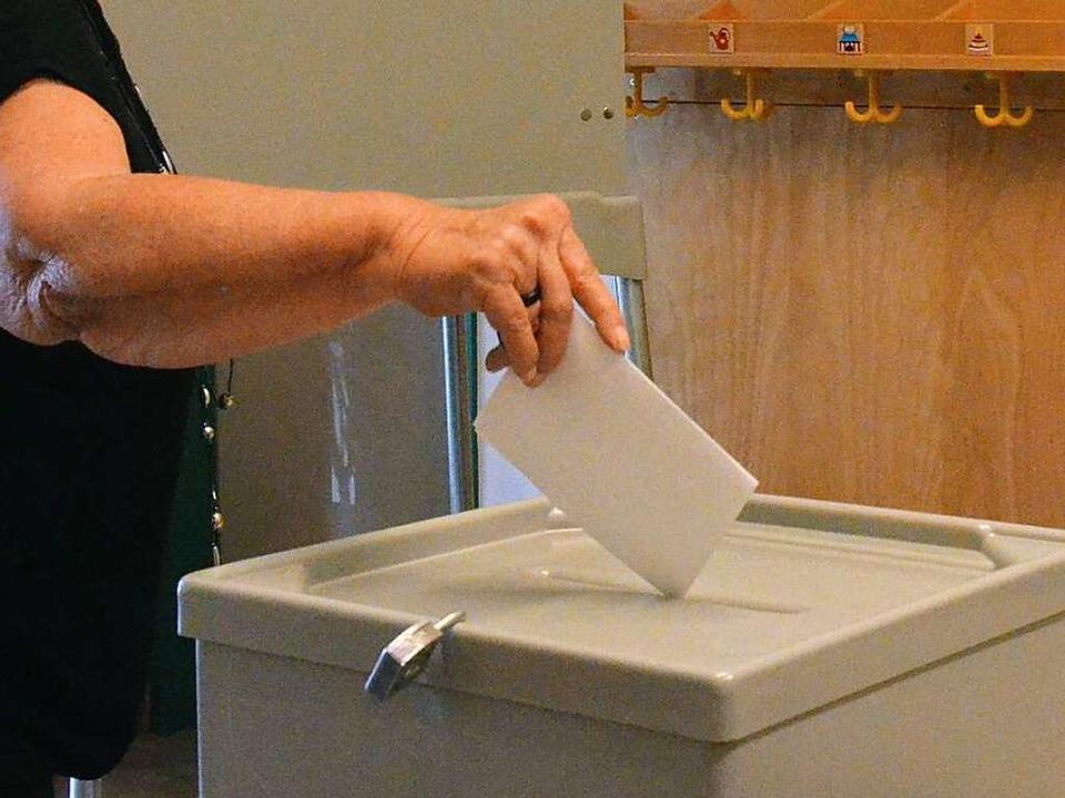 Stimmabgabe am Sonntagmorgen in St.Blasien.  | Foto: Sebastian Barthmes