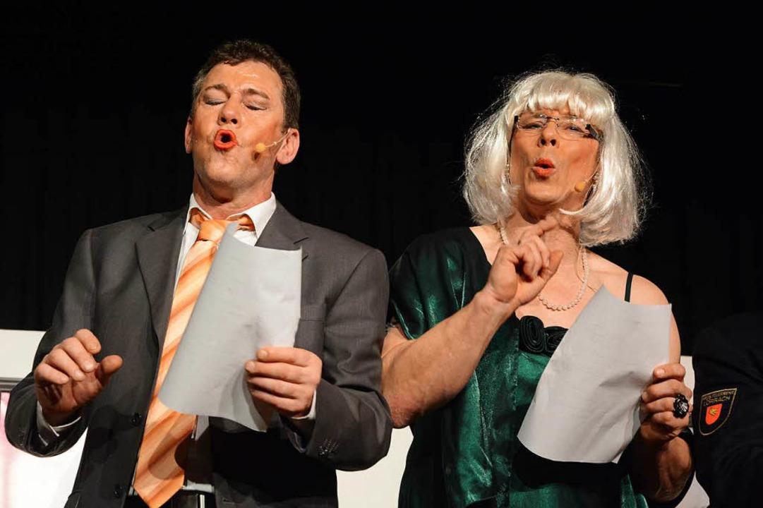 Lörrachs Ex-Oberbürgermeisterin Gudrun...zu mimen war eine seiner Paraderollen.  | Foto: Barbara Ruda