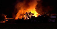 Brand zerstört Werkstattgebäude