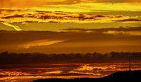 Zauberhafter Sonnenuntergang im Kaiserstuhl