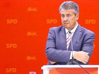 Sigmar Gabriel stänkert in Tiengen gegen die CDU