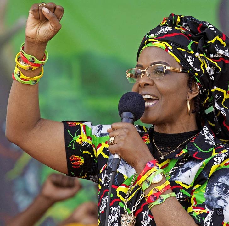 Viel Temperament: Grace Mugabe     Foto: dpa