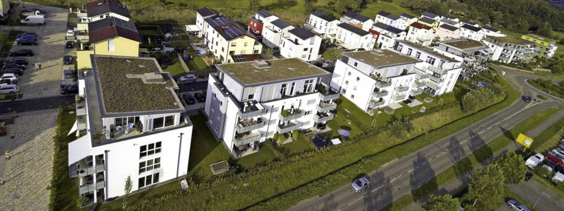 Im Marcher Ortsteil Hugstetten im Baug...nen fünf Jahren Wohnraum entstanden.    | Foto: Michael Saurer