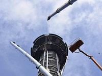 So wird der Schlossbergturm mit neuen Stahlträgern gesichert